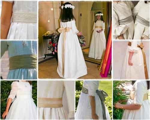¿Cómo debe ser la Lazada o el Fajín del Vestido de Primera Comunión ideal? 1