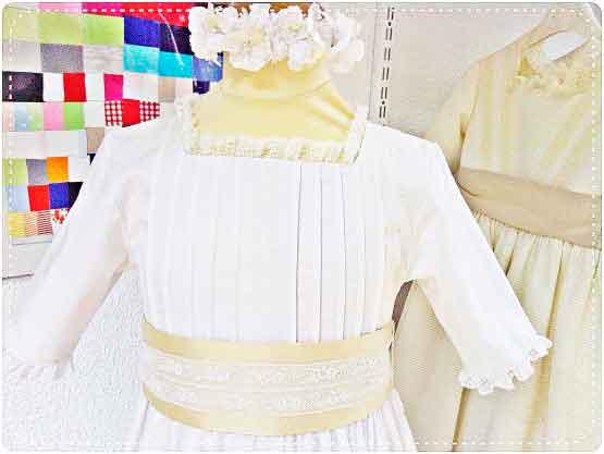 Vestido de Comunión para una Niña Rellenita 1