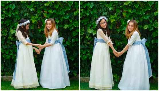 Vestidos de Comunión a medida para Silvia y Carolina 1