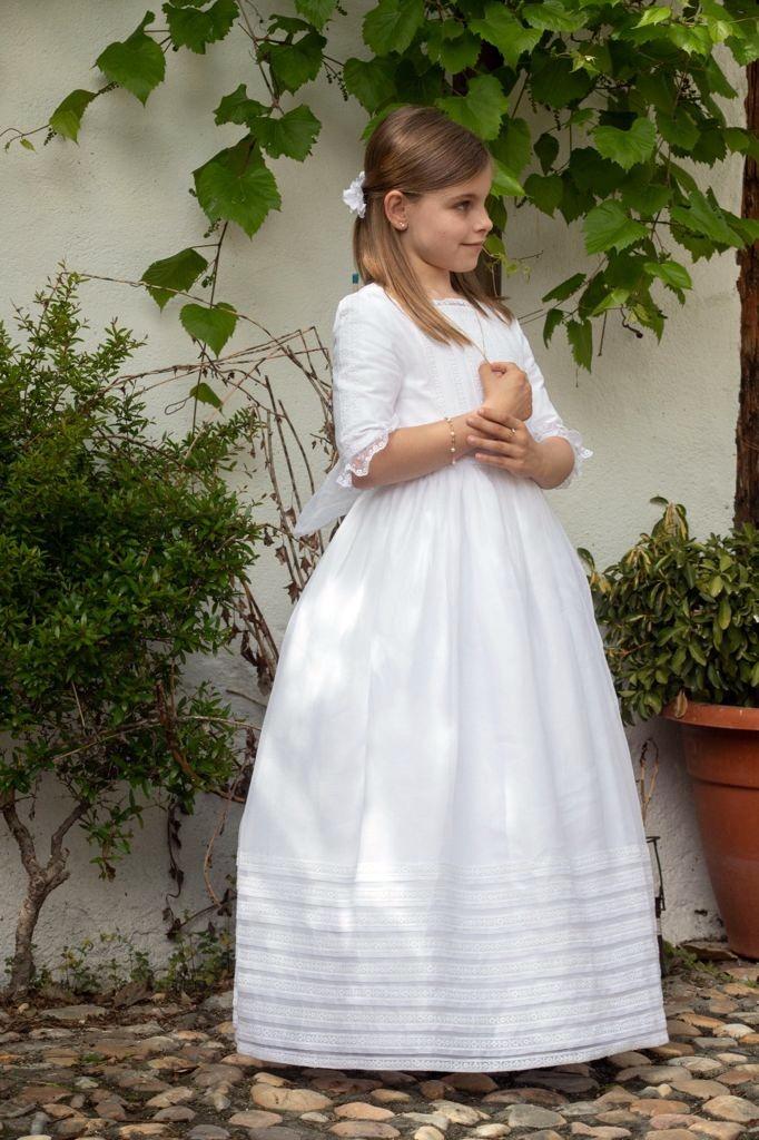 vestidos de Comunión de organdí suizo